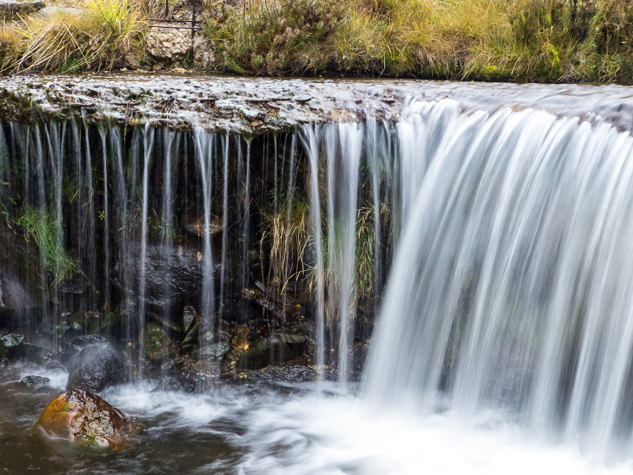 Water fall shot with a slow shutter.