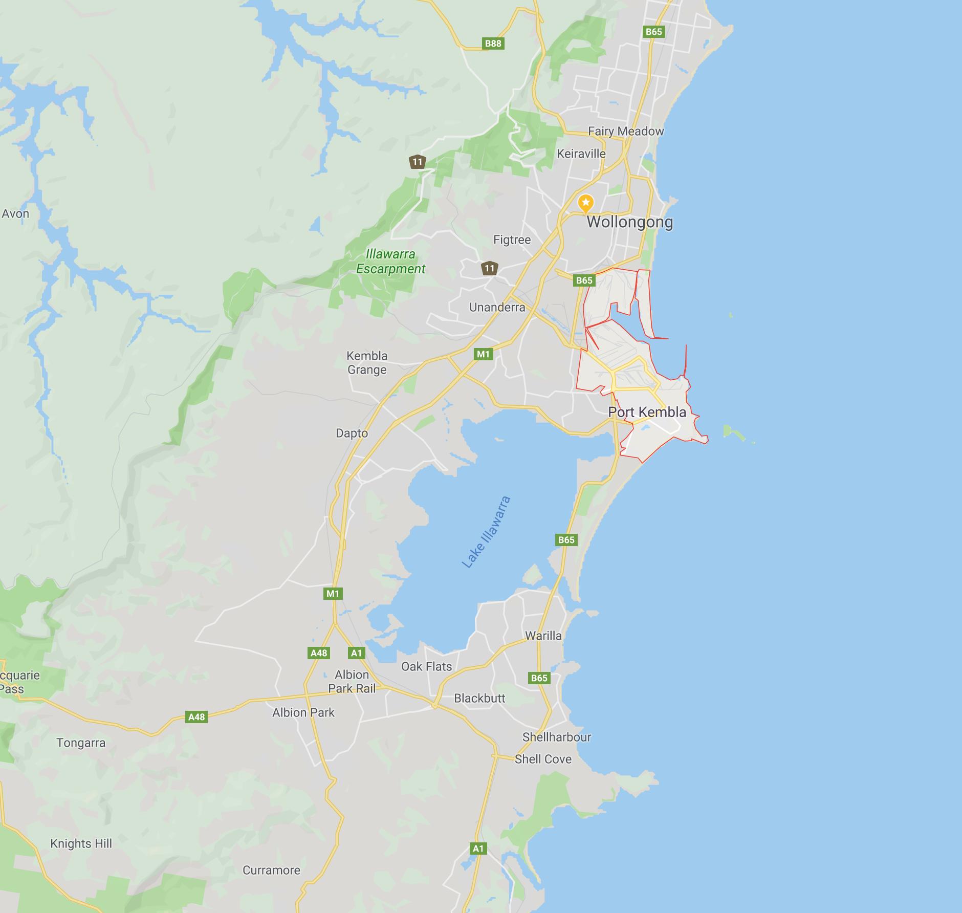 Port Kembla Location map
